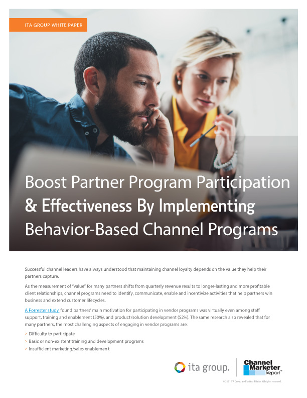 Boost Partner Program Participation & Effectiveness By Implementing Behavior-Based Channel Programs