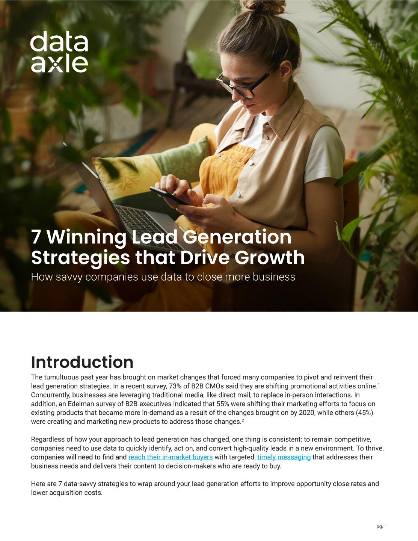7 Winning Lead Generation Strategies That Drive Growth
